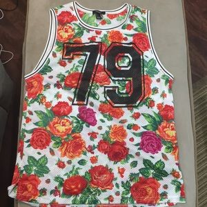 Forever 21 Floral Jersey